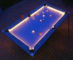 Lighted Outdoor Pool Table, Illuminated Pool Table - Opulentitems.com