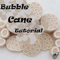 Click here to go to the Translucent polymer clay bubble cane tutorial