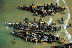 YannArthusBertrand2.org - Fond d écran gratuit à télécharger || Download free wallpaper - Retour de pêche à Saint-Louis, Sénégal (16°02' N - 16°30' O).