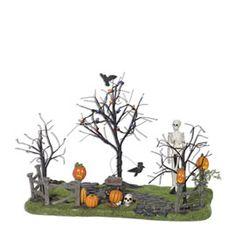 "Department 56: General Village Halloween - ""Creepy Lighted Front Yard"" - #56.53242 - $70.00 - Intro Dec 2006 - Retired Dec 2008"