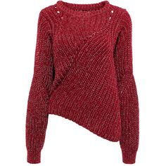 Yoins Red Jumper (€27) ❤ liked on Polyvore featuring tops, sweaters, shirts, red, sweaters & cardigans, red shirt, asymmetrical hem top, red sweater, jumper top and jumpers sweaters