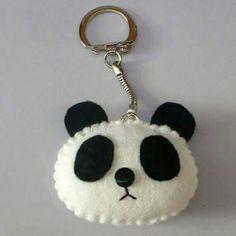 Panda chaveiro em feltro
