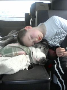 Sleepy - boy & his Great Dane