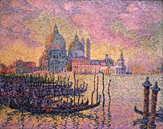 Signac. Grand Canal, Venice, 1905 Paul Signac (1863–1935) Oil on canvas; 28 7/8 x 36 1/4 in. (73.5 x 92.1 cm) Purchased with funds from the Libbey Endowment, Gift of Edward Grummond Libbey (1952.78) The Toledo Museum of Art
