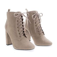 Lace Up High Heels, Beige Heels, Black High Heels, High Heel Boots, Heeled Boots, Shoes High Heels, Short Heel Boots, Cute Ankle Boots, Burgundy Heels