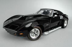 The Corvette Stingray is one of the most popular sports cars of all time. Classic Corvette, Ford Classic Cars, Black Corvette, Corvette Summer, Chevrolet Corvette Stingray, American Classic Cars, Sweet Cars, Chevy, Hot Cars