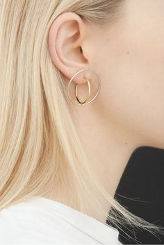 Saturn Earrings by Charlotte Chesnais