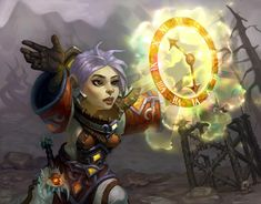 """World of Warcraft - Gnome Priest with the """"Borrowed Time"""" ability. I Love The World, Wow World, Warcraft 3, World Of Warcraft, My Fantasy World, Fantasy Rpg, Dark Souls, Character Concept, Character Design"""