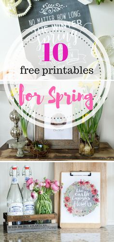 10 Free Printables for Spring