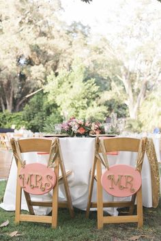 Get some alone time at your wedding with your very own sweetheart table with pink and gold Mr. Wedding 2017, Dream Wedding, Wedding Day, San Diego Botanic Garden, Diy Wedding Inspiration, May Weddings, Sweetheart Table, Wedding Chairs, Pink And Gold