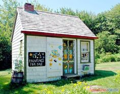 Maud Lewis house. The actual house that she lived and painted in.