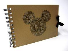 Disney Autograph Book, Mickey or Minnie Mouse, Disney Land or Disneyworld, A5 Size (A5 Mickey (Florida))