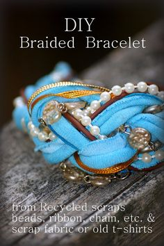 Trendy and Eco-Friendly: DIY Recycled Jewelry Projects , DIY Braided Bracelet