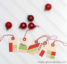 Washi Tape Gift Tags for the Holidays