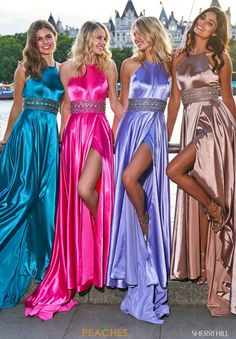 Sherri Hill - 53306 Beaded Halter Neck Satin A-line Dress - Sherri Hill – 53306 Beaded Halter Neck Satin A-line Dress Source by michelinadecostanzo - Silk Satin Dress, Satin Dresses, Sexy Dresses, Prom Dresses, Long Prom Gowns, Pretty Dresses, Beautiful Dresses, Pure Couture, Satin Lingerie
