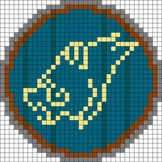 Skyrim Hold Windhelm Perler Bead Pattern / Bead Sprite