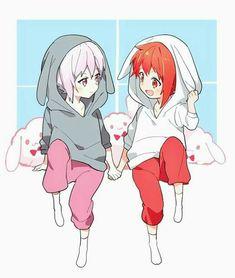 Ten et Riku Anime Siblings, Anime Child, Anime Group, Twin Girls, Ensemble Stars, Anime Films, Manga, Anime Love, Kawaii Anime