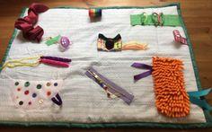 Memory Fidget Busy Blanket Dementia ADH Alzheimers Blind Elderly Fiddle Sensory | eBay