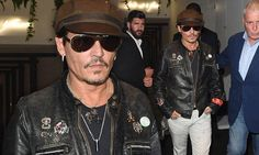 Johnny Depp is biker chic as he rocks a leather motorcycle jacket — Daily Mail Black Leather Motorcycle Jacket, Leather Jacket, Richard Grieco, Biker Chic, My Guy, Johnny Depp, Beautiful Men, Hot Guys, Captain Hat