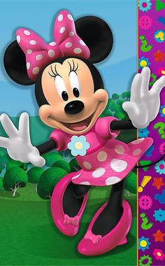 Find minnie mouse party game at Birthday Direct Mickey Minnie Mouse, Minnie Mouse Clubhouse, Mickey Mouse And Friends, Retro Disney, Disney Art, Walt Disney, Mickey Mouse Wallpaper, Disney Wallpaper, Miki Mouse