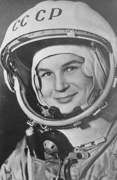 Cosmonaut Valentina Tereshkova, the first woman in space.    HUMANOID HISTORY
