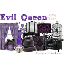 """Evil Queen"" by disney-villains on Polyvore.  Lots of other Disney fashion or home decor ""ideas"""