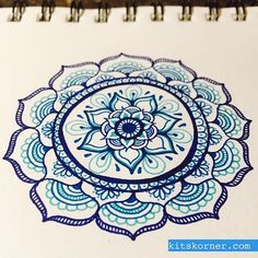 Mandala drawn with Papermate flair pens Mandala Doodle, Mandala Drawing, Doodle Art, Doodle Inspiration, Zentangle Patterns, Zentangles, Henna Art, Cool Drawings, Art Inspo