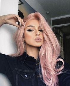 50 Winged Eyeliner Looks Ideas Pastel hair colors Sexy Makeup, Hair Makeup, Makeup Geek, Makeup Addict, Cabelo Rose Gold, Pastel Pink Hair, Long Pink Hair, Pink Blonde Hair, Dusty Pink Hair