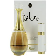 JADORE by Christian Dior SET-EAU DE PARFUM SPRAY 3.4 OZ & EAU DE PARFUM REFILLABLE PURSE SPRAY .25 OZ for WOMEN