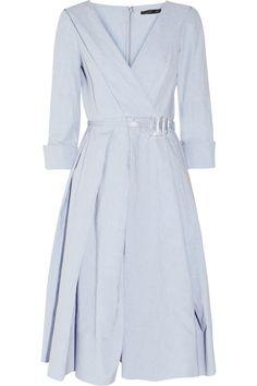 Donna Karan   Pleated linen and cotton-blend dress   NET-A-PORTER.COM