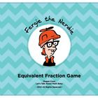 """Just like the game """"Old Maid,"""" students match equivalent fractions, and try to avoid ending up with the Fergie Card. 4th Grade Fractions, Equivalent Fractions, 4th Grade Math, Math Games, Math Activities, Educational Activities, Add And Subtract Fractions, Math Classroom, Classroom Ideas"""