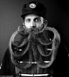 Roll with it: Beards take years to cultivate and are often entered in competitions