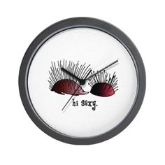 CafePress Sewing Pincushion - Hi Sexy Wall Clock - Standard Multi-color