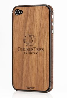 Gift Ideas for Events: Toast's engraved wood iPhone covers ($30; bulk pricing available) can be customized with logos and brand names. Photo: Courtesy of Toast