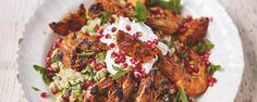 Sizzling Moroccan prawns with fluffy couscous