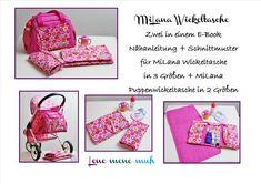*E-Book: Nähanleitung + Schnittmuster für die MiLana Wickeltasche* In diesem E-Book zeige ich dir wie du aus dem E-Book der normalen MiLana Wickeltasche eine zuckersüße Puppentasche für deine...