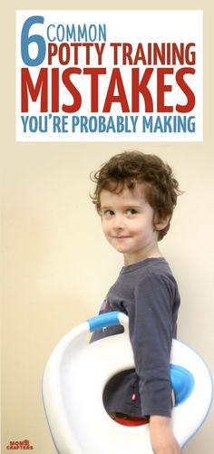 If you've tried everything with potty training your toddler or preschooler, you've followed all the potty training tips, and you're stuck, you may be making some common potty training mistakes. I made many of these mistakes and decided to open up and share them with fellow parents who are struggling to toilet train a three year old. These parenting tips apply to potty training boys and girls! #pottytraininggirls #pottytrainingtoddlerstips
