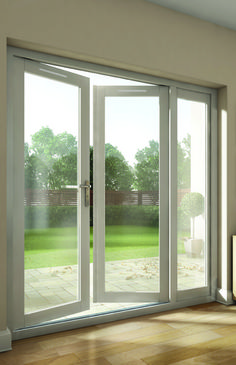 "Patio french doors - Sometimes a patio door is called a French door. The term ""French door"" usually refers to a pair of glazed patio doors House, Home, Upvc French Doors, New Homes, Doors Interior, Exterior Doors, Patio Doors, French Doors Patio, Cheap French Doors"