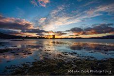 Sunset at Castle Stalker, Scotland.