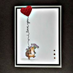 Hedgehog I Love you Scripty sayings stamps
