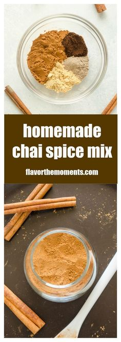 Homemade Chai Spice Mix is a warm spice blend inspired by chai tea. It's a delicious addition to quick breads, oatmeal, topping lattes, and so much more!