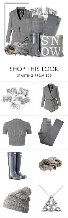 """Grey"" by cavell ❤ liked on Polyvore featuring Raxevsky, Miss Selfridge, Comptoir Des Cotonniers, Hunter, Helly Hansen and Allurez"
