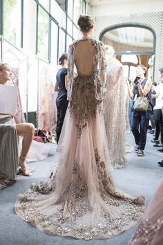 Zuhair Murad at Couture Fall 2017 - Backstage Runway Photos
