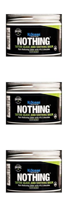 Piercing Supplies and Kits: H2ocean Nothing Foam Tattoo Glide And Soothing Balm Lidocaine Organic 200G 7 Oz BUY IT NOW ONLY: $44.99