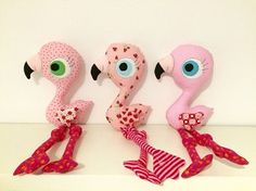 PDF Pattern Flamingo Plushie and Applique by cosythings4littleone