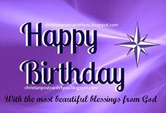 Pretty Purple Happy Birthday Graphics | ... friends to wish happy birthday, nice quotes for woman birthday