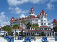 Great shot of Grand Floridian and cabanas from the beach!