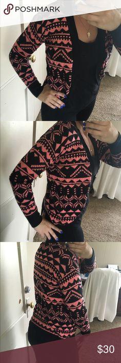 Kirra pink and black Aztec style Like new Kirra Sweaters