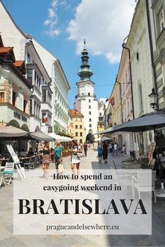 Travel to Bratislava! Read my guide to a relaxing weekend in beautiful Bratislava, Slovakia. Travel in Europe.