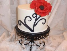 Red & black cake